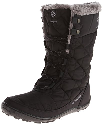 Columbia Women's Minx MID II Omni-Heat Snow Boot, Black, Charcoal, 7.5 B US