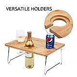 Tirrinia Outdoor Wine Picnic Table, Folding