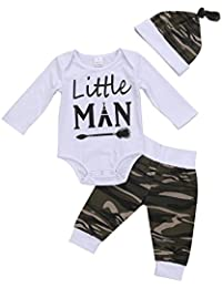 3PCS Newborn Baby Boys Cute Letter Print...
