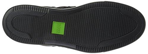 Boss Green Av Hugo Boss Menns Enlight Tenn Skinn Sneaker Svart