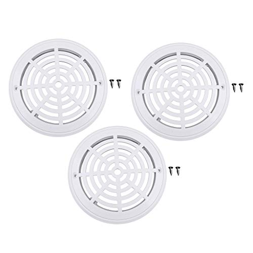 - Flameer 3-Pack 8-inch Durable Dual Main Bottom Drain for Swimming Pool In-Ground & Above Ground, White