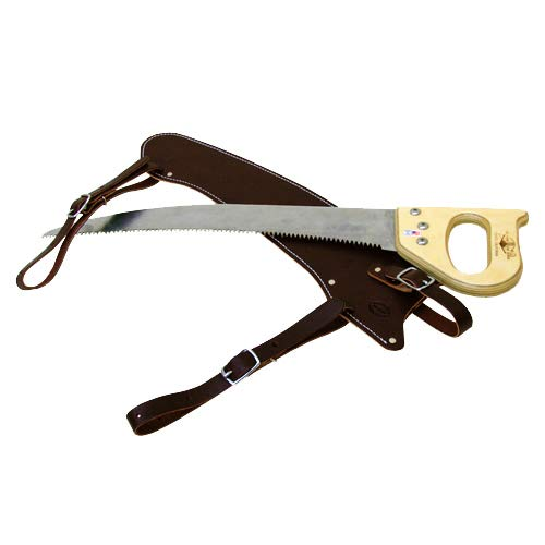 Outfitters Supply 19'' Fanno Trail Saw with Polyurethane Synthetic Scabbard & Cut-On-The-Pull Curved Blade, Pack Saw Used for Hunting, Camping, Trail-Riding & Bushcraft