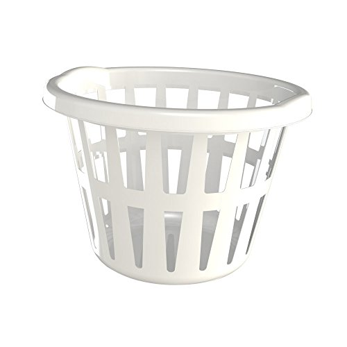 K&C Products Small Laundry Basket, White, 6-Pack