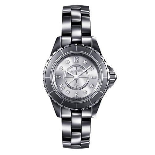 Chanel J12 de cerámica de titanio de 29 mm de diamante de cuarzo reloj de pulsera con esfera - H3401: Amazon.es: Relojes