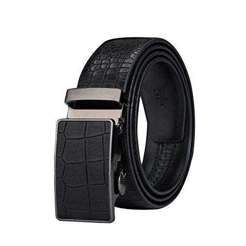 [Men's Belt Ratchet Leather Dress Belt with Automatic Buckle 35mm Wide 28