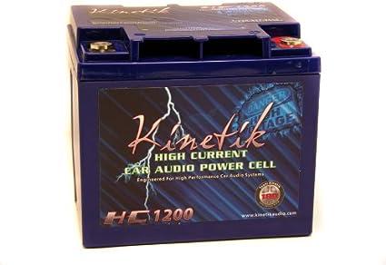 New Kinetik HC1200-BLU Car Power Cell//Batteries High Current KHC1200 2