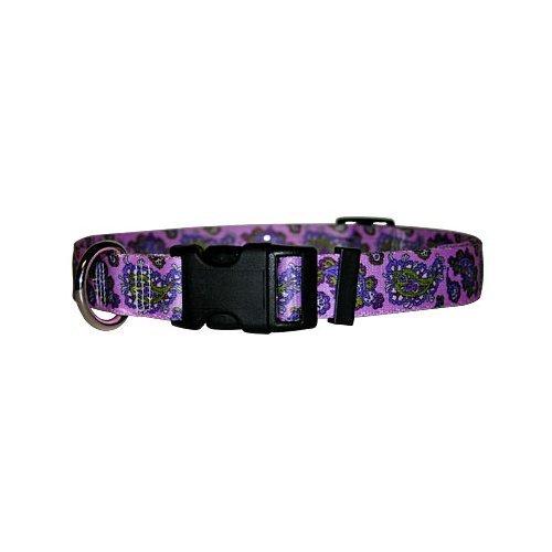 Bohemian Paisley Purple Dog Collar - Size Cat 8