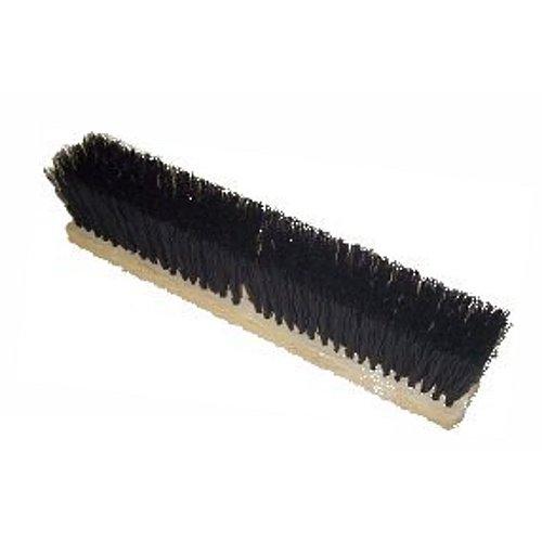 HUB City Industries 518 Standard Floor Brooms, Black Tampico, - Tampico Inch 18 Broom Push
