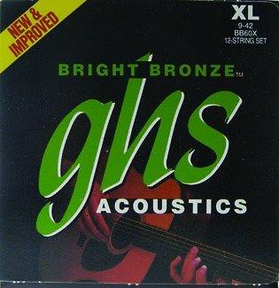 GHS 12-string Bright Bronze X-Lite 9-42 BB60X