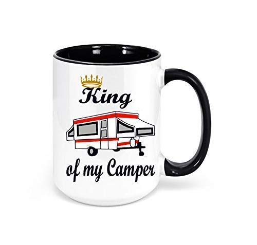 King of my Camper Pop-up Camper Mug