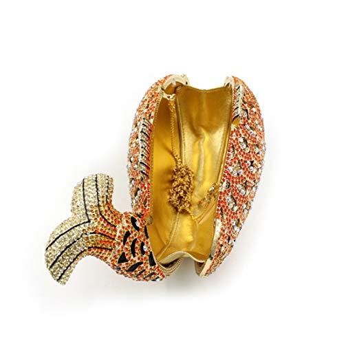 Embrayage Black Cristal Poisson De Femme Cijfay Soirée Sac color Gold SqnBZ1xYaw