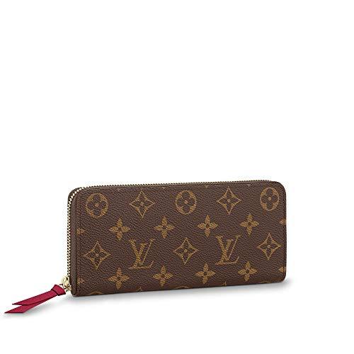 Luxurious Elegant Monogram Vernis Practical Compact Wallets Canvas Leather Zipper Coin Purse Pocket with Credit Card Slot for Women 19 x 9 cm Milk Tea Color