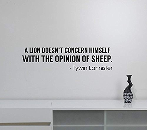 (Lion Opinion of Sheep Tywin Lannister Quote Vinyl Decal Game of Thrones Wall Sticker TV Serial Movie Saying Words Art Dark Fantasy Decorations for Home Dorm Room Bedroom Decor gt5)