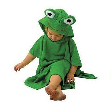 toalla de- linda rana verde bebé bata de baño de salpicaduras envoltura de toalla con