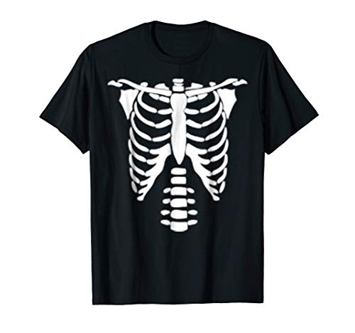 Simple Couple and Group Funny Skeleton Bone Halloween Shirt]()