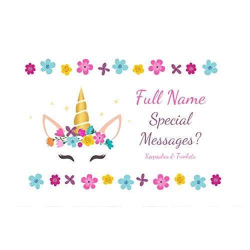 Personalised Keepsake Memory Box Unicorn Design with message for Baby Girl//Baby Boy//Family//New Couple//Friends for Wedding//Birthday//Anniversary//Christening//Holy Communion//Christmas