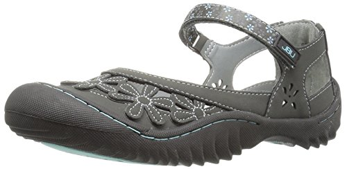Jbu Door Jambu Womens Wildflower Mary Jane Flat Charcoal