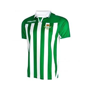 Macron - Camiseta oficial r.betis temp.12-13, talla XS, color verde / blanco: Amazon.es: Deportes y aire libre