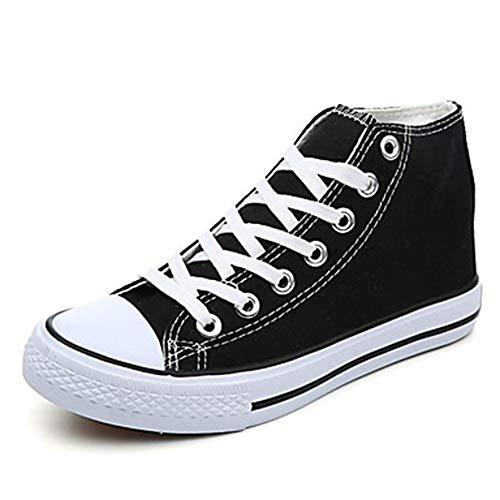 con Deporte CN38 Tela Redondo Primavera 5 Azul Luz EU38 Tacón Suelas US7 Black Plano Otoño 5 Recogido Zapatillas Dedo Mujer UK5 TTSHOES Negro Rojo De Zapatos p4ExqwYxv