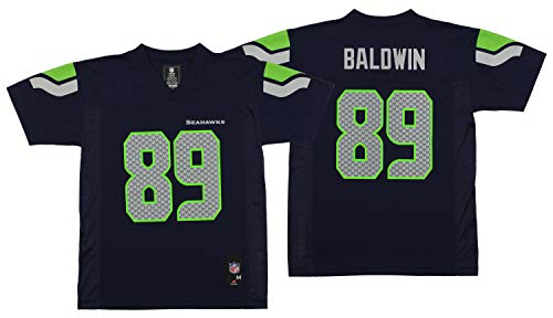 - Outerstuff NFL Youth's Seattle Seahawks Doug Baldwin Mid-Tier Jersey, Navy Medium (10-12)