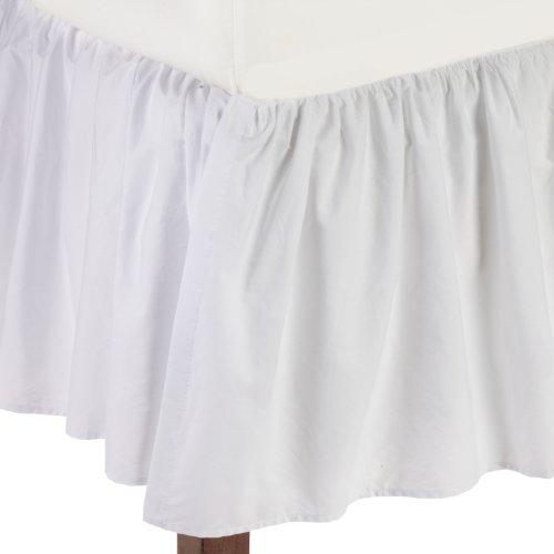 American Baby Company 100% Cotton Percale Ruffle Crib Skirt, White