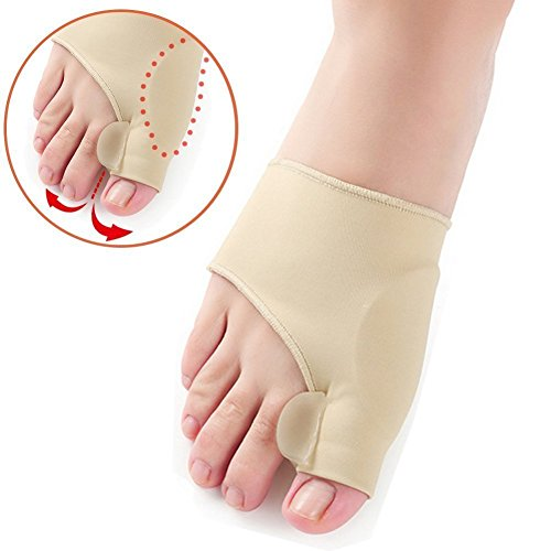 Amazon.com: COJOY Bunion Corrector - Bunion Relief Sleeve and Bunion Toe Straightener – Cushioned with Gel Pad Elastic Long- Lasting for Effective Hallux ...