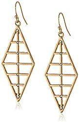 Panacea Gold Diamond Shape Earrings