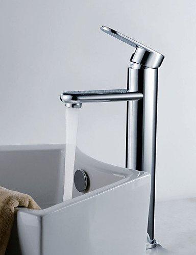 shengbaier Zeitgen?ssische Messing Waschbecken Wasserhahn - Chrom-Finish (Gro?)