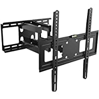 Kenuco Heavy Duty Full Motion TV Wall Mount For most 32-70 Samsung Sony LG LCD LED Plasma Flat Screen TV Monitor | up to 110 lb | VESA 600x400 | Swivels 180° | Tilts +12° -20° | GMW866-A