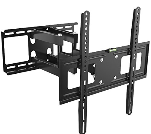 "Kenuco Heavy Duty Full Motion TV Wall Mount for Most 32""-70"" Samsung Sony LG LCD LED Plasma Flat Screen TV Monitor | up to 110 lb | VESA 600x400 | Swivels 180° | Tilts +12° -20° | GMW866-A"