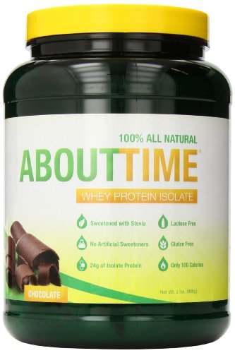 - About Time, 100% Whey Protein Isolate, Chocolate, 2 lbs (908 g) by SDC Nutrition