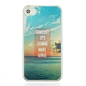 SOL Sea Leather Vein Pattern PC Hard Case for iPhone 4/4S