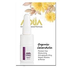 AQUA+ Organic Calendula Extract Moisturizer Facial Skin Serum with Vitamin C, Hyaluronic Acid – Guarantee Result for Anti-aging, Moisturizing, Whitening & Healing - QAI Organic Certified (5 ML)