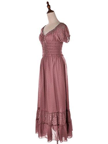 rosa manica stile bianca ragazza ispirata contadino kaci grande cappello pizzo abito Bohemia Anna abito T0wOBEqx