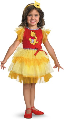 Cute Winnie The Pooh Costume (Frilly Winnie The Pooh Costume - Small (2T))