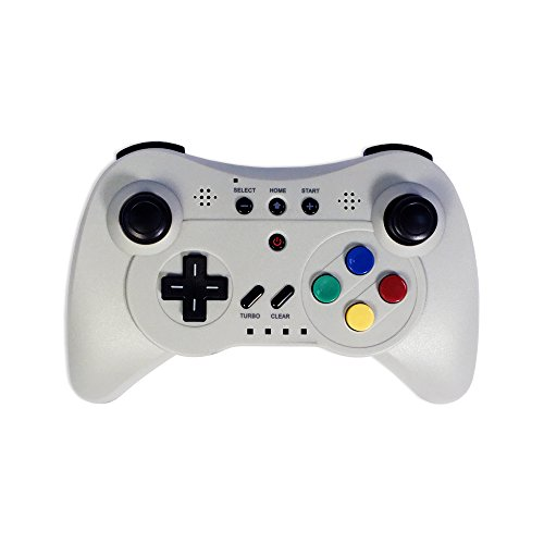 - Old Skool Wireless Pro Controller Game Pad for Nintendo Wii U - Grey