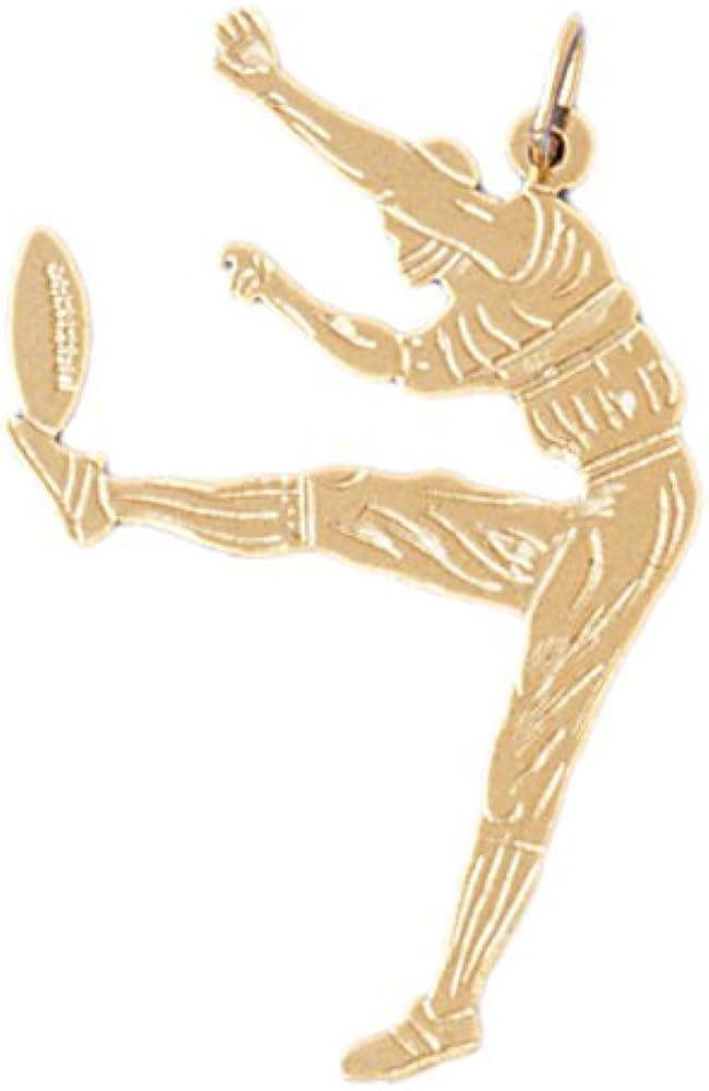 14k Yellow Gold Football player Pendant