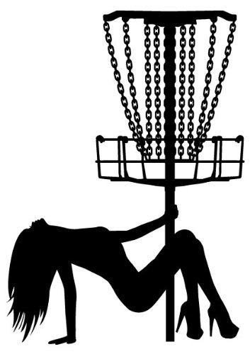 Amazon Com Disc Golf Pole Dancer Vinyl Decal With Detailed Chains