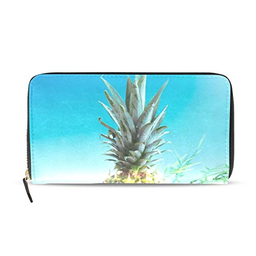 Womens Wallets Tropical Fruit Pineapple Coconut Avocado Kiwi Oran Leather Passport Wallet Coin Purse Girls Handbags