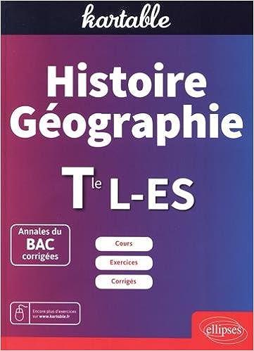 Histoire Geographie Tle L Es Amazon Fr Kartable Livres