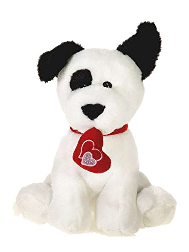 Dog Valentine Toys : Fiesta toy valentine puppy dog with heart ″ white
