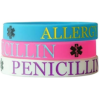 Hairyworm Penicillin Child Size Silicone Wristband Combi Pack pack Wristbands Estimated Price £4.99 -