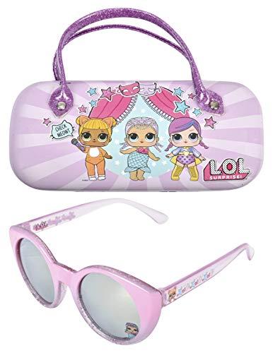 KIDS SUNGLASSES - GIRLS 100% UV SUNGLASSES W BONUS FUZZY OR HANDLE CASE, L.O.L ()