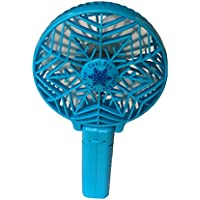 ddLUCK Handfan Rechargeable Fans Portable Handheld Mini Fan Battery Operated Cooling Fan Electric Personal Fans Foldable Fans with 18650 Battery for Home and Travel(Blue)