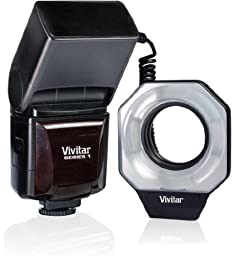 Vivitar VIV-DF-586-NIK Digital Macro Ring Flash for Nikon