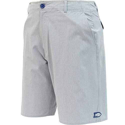 AFTCO Cloudburst Fishing Shorts - Gray Heather - 34