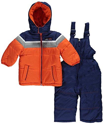 iXtreme Baby Boys' Colorblock Snowsuit, Orange, 12 Months