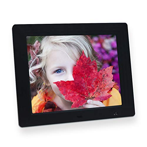 Digital Photo Frame 8 Inch Motion Sensor 4:3 IPS Display Electronic Picture Frame 1080P High Resolution Wall Mountable with Video Player, Calendar, Alarm, Auto Power ON/Off, Remote Control [Jimwey]
