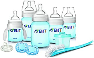 Philips AVENT Classic Plus - Set básico de biberones para recién nacidos Azul