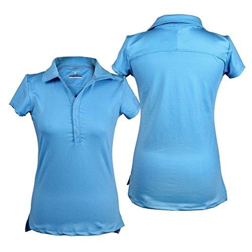 QHP Damen Polo-Shirt Luna Kurzarm Kragen Basismodell in Vielen Farben Sky oqdzgpd